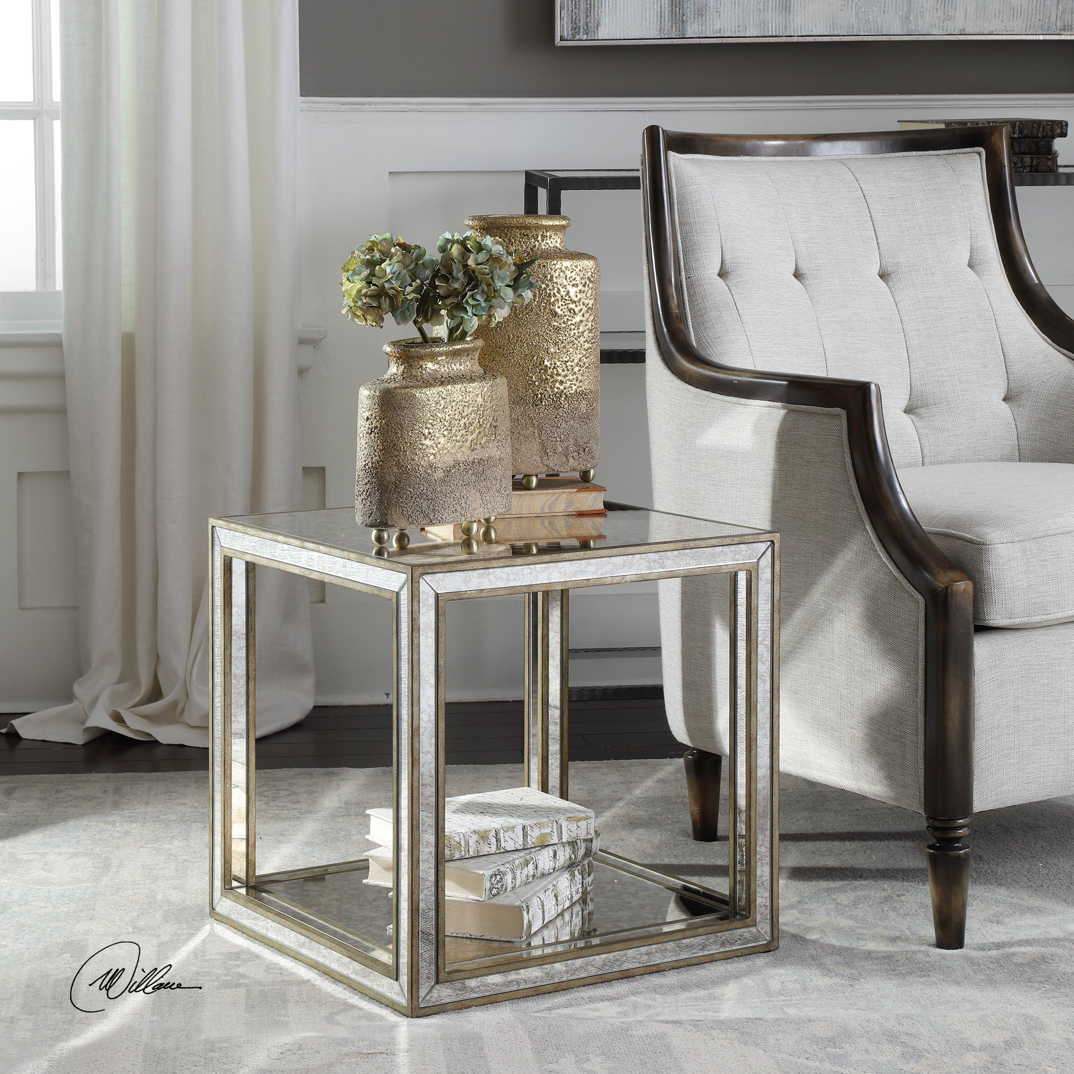 - Shop Uttermost Julie Mirrored Accent Table - Overstock - 19456152