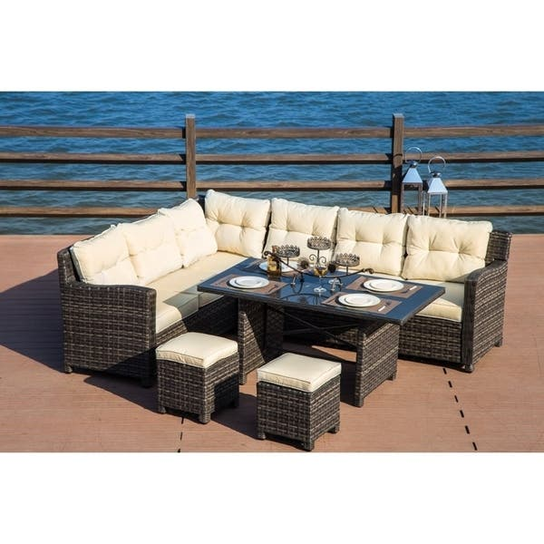 Outdoor Wicker Dining Seating Sofa