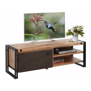 Katashi Acacia Wood and Metal 1 Door TV-Lowboard Entertainment Center