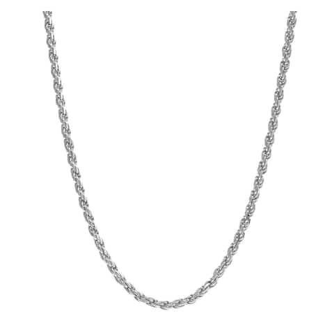 Pori Jewelers 925 Sterling Silver High Polished 2 MM Rope 040 Chain Necklace