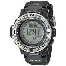Casio Pro-Trek Atomic Mens Watch PRW3500-1CR, Black, Size...