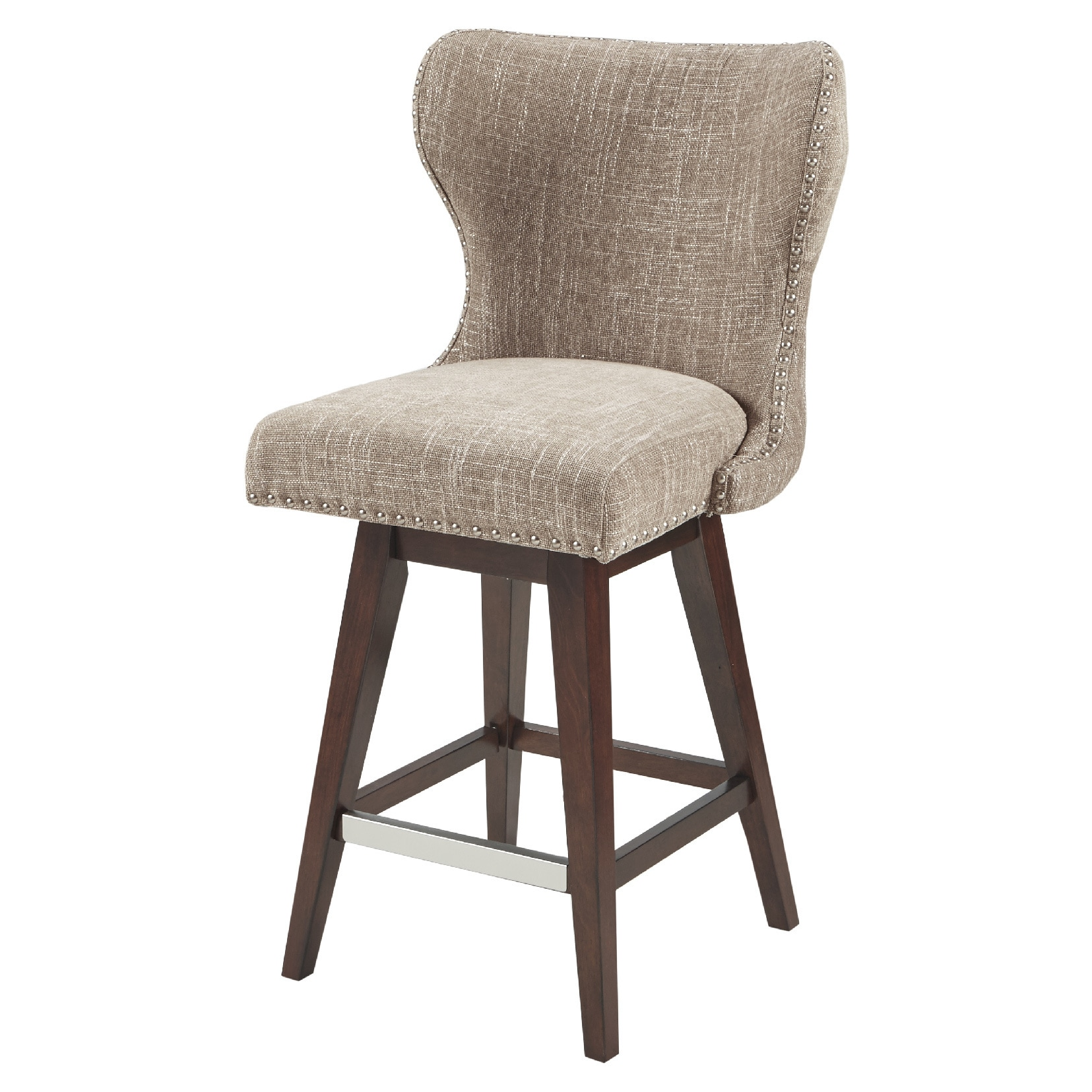 Madison Park Irvine Upholstered 27-inch Swivel Bar Stool