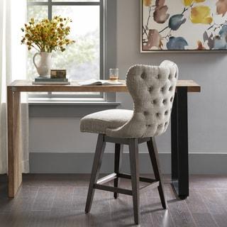 Madison Park Irvine Camel/Brown Fabric Swivel Counter Stool