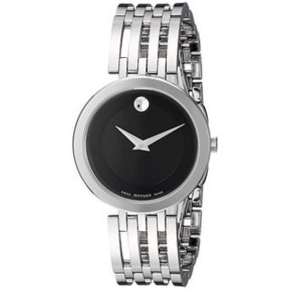 Movado 0607051 Stainless Steel Black Dial Ladies' Watch