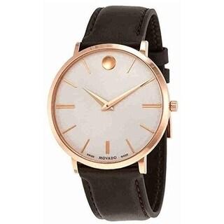 Movado Ultra Slim Leather Mens Watch 0607089