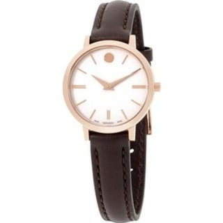 Movado Ultra Slim Leather Ladies Watch 0607096
