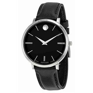 Movado Ultra Slim Leather Ladies Watch 0607090
