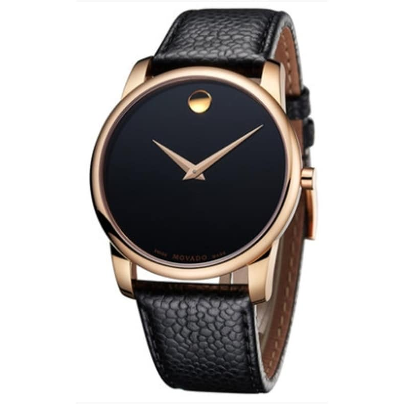 Movado Museum Classic Leather Mens Watch 0607060, brushed...