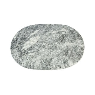 "Polished Marble Table Place Mat ""Badal"", Round Shaped with Gray finish"