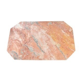 Polished Marble Table Place Mat, Octagonal Shaped with Pink finish