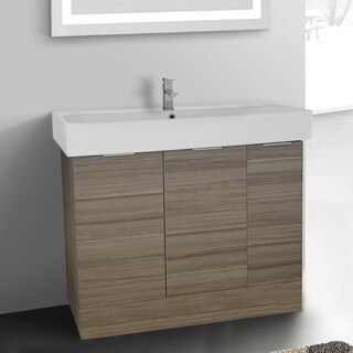 ARCOM O4O03 Free Standing 40 Inch Larch Canapa Vanity Cabinet With Fitted Sink