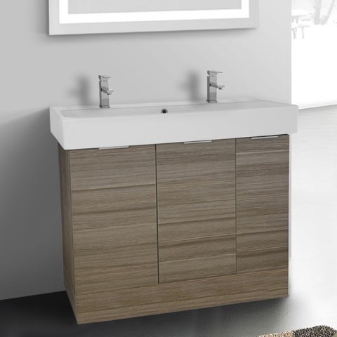 ARCOM O4T03 Free Standing 40 Inch Larch Canapa Vanity Cabinet With Fitted Sink - larch canapa