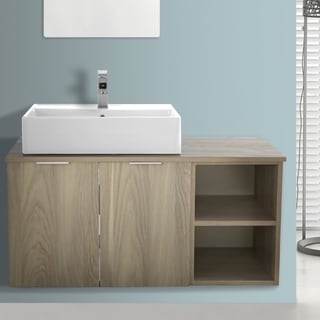 ARCOM ES01 Wall Mounted 41 Inch Vanity Cabinet With Fitted Sink