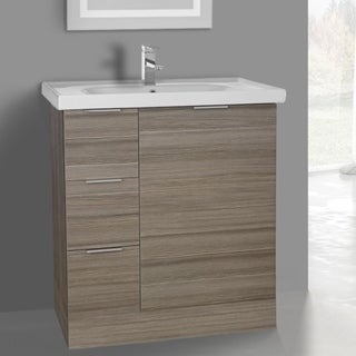 ARCOM WA02 Free Standing 31 Inch Larch Canapa Vanity Cabinet With Fitted Sink