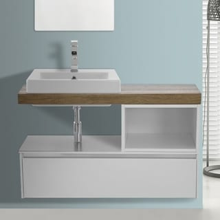 ARCOM LAF01 Wall Mounted 41 Inch Vanity Cabinet With Fitted Sink