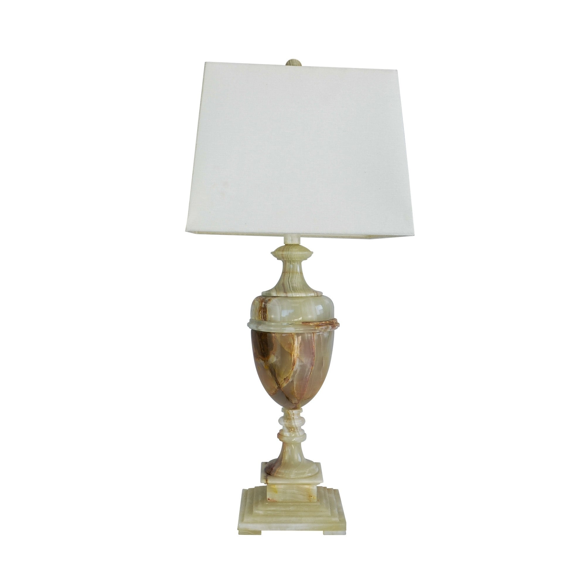 32 Tall Marble Table Lamp Sabrina With Chartreuse Finish White Linen Shade Overstock 19456763