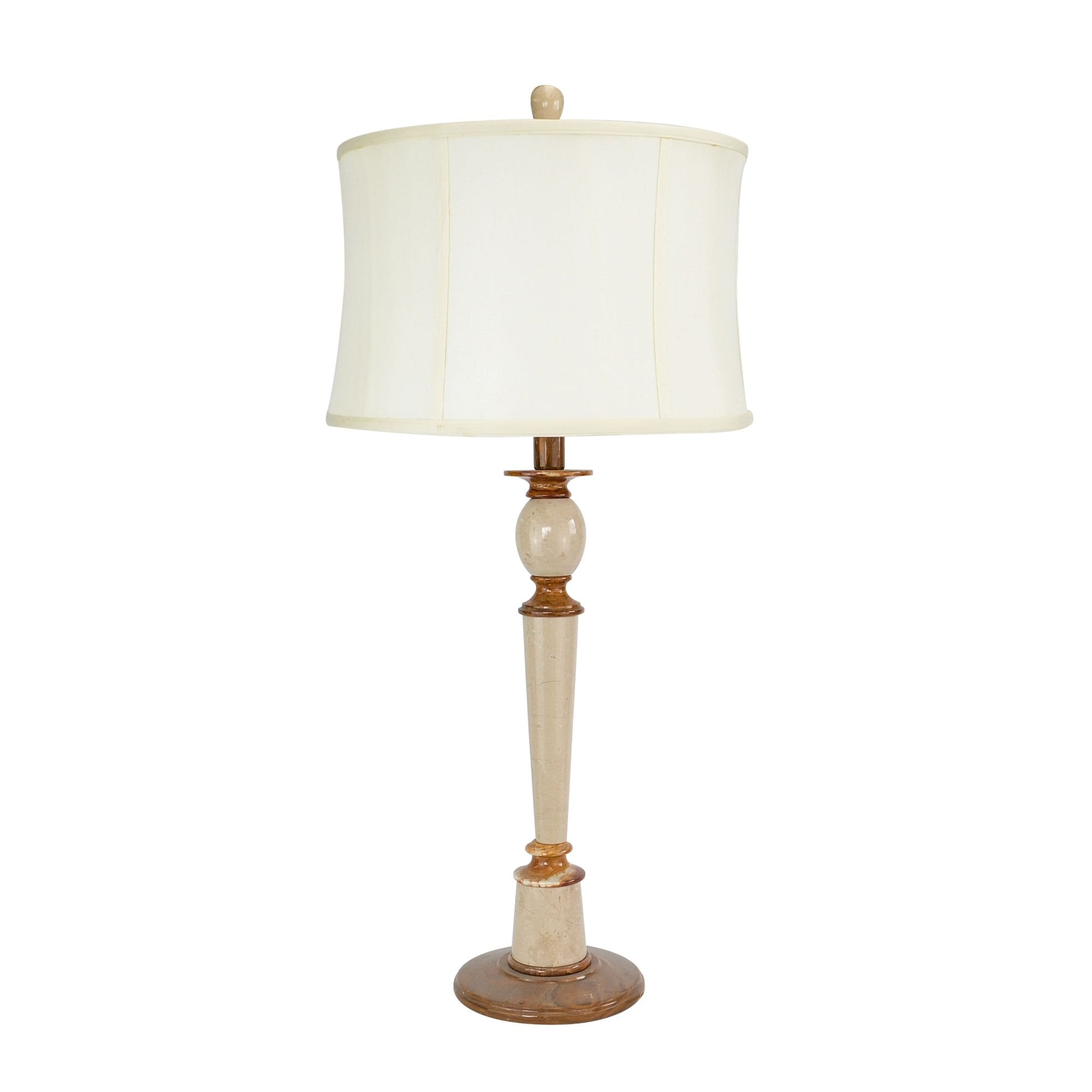 31 Tall Marble Table Lamp Plumefall With Chartreuse Finish White Linen Shade On Sale Overstock 19456764