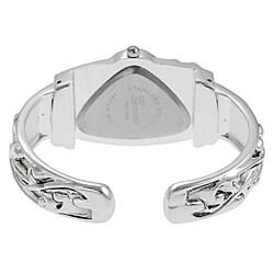 Geneva Women's Platinum Triangular Face Fashion Watch