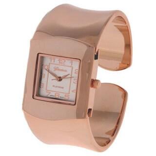 Geneva Platinum Polished Elegant Women's Fashion Watch
