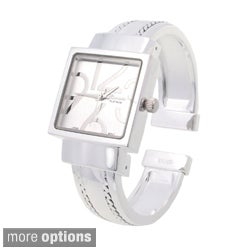 Geneva Women's Polished Square Face Watch