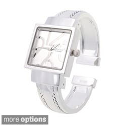 Geneva Women's Polished Square Face Watch|https://ak1.ostkcdn.com/images/products/1945684/Geneva-Womens-Polished-Square-Face-Watch-P10265356c.jpg?impolicy=medium