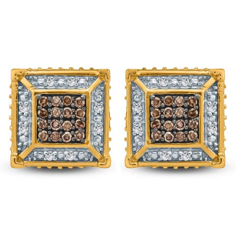 Cali Trove 1/4ct TDW Diamond Men's Stud Earring In 10kt Yellow Gold