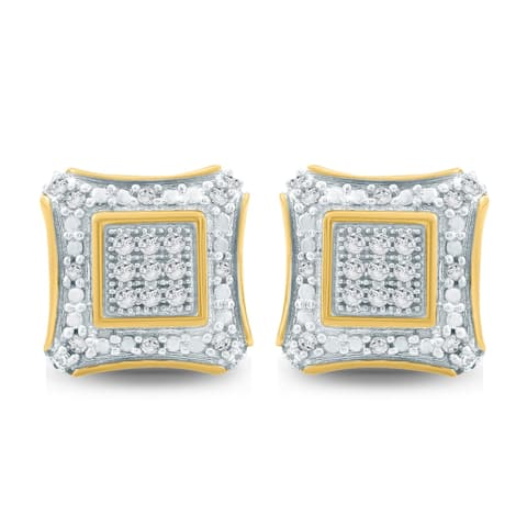 Cali Trove 1/6ct TDW Diamond Men's Stud Earring In 10kt Yellow Gold
