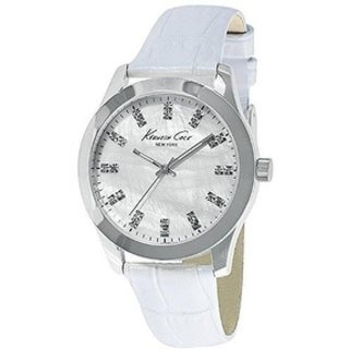Kenneth Cole New York White Leather Ladies Watch KCW2020