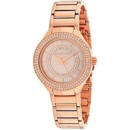 142229b888f0 Shop Michael Kors Mini Kerry Rose Gold-Tone Stainless Steel Ladies Watch -  Free Shipping Today - Overstock - 19456994