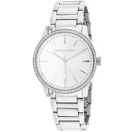 60a199da052e Shop Michael Kors Bailey Stainless Steel Ladies Watch - Free Shipping Today  - Overstock - 19456999
