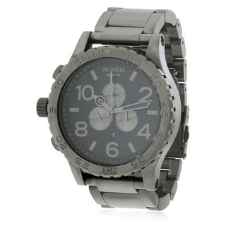 Nixon Black Stainless Steel Chronograph Mens Watch A083632