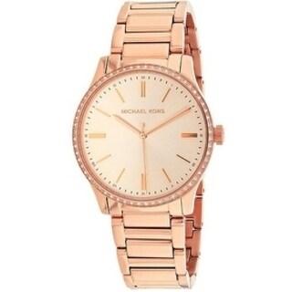 Michael Kors Bailey Rose Gold-Tone Stainless Steel Ladies Watch MK3809