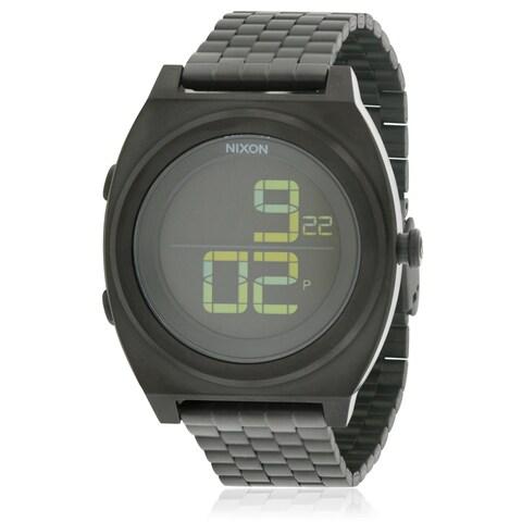 Nixon Time Teller Digital Black Stainless Steel Chronograph Unisex Watch