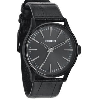 Nixon Sentry Leather Mens Watch A377-1886-00