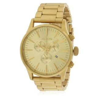 Nixon The Sentry Chronograph Gold-Tone Unisex Watch A386502
