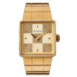 Nixon Quatro Gold-Tone Sainless Steel Mens Watch A013-502-00