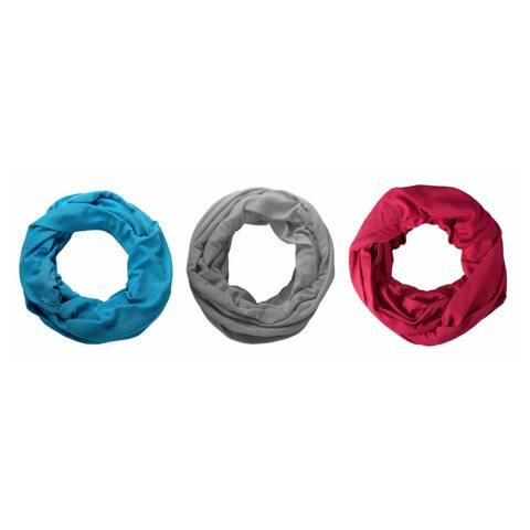 Jersey Knit Infinity Loop Scarf 3 Pack - Medium