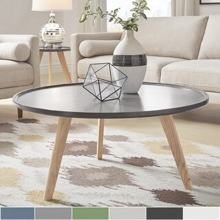 Hayden Mid-Century Round Coffee Table by iNSPIRE Q Modern (More options available)