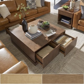 Hadley 4-Drawer Mid-Century Wood Coffee Table by iNSPIRE Q Modern