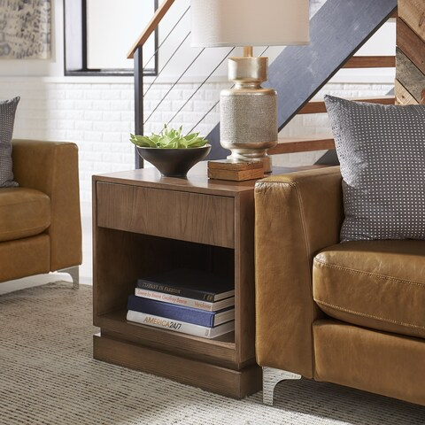 Hadley 1-Drawer Mid-Century Wood End Table by iNSPIRE Q Modern