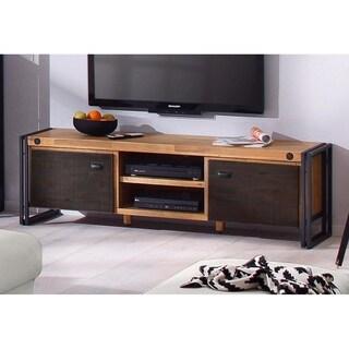 Scandinavian Living Katashi Acacia Wood and Metal 2-Door TV-Lowboard Entertainment Center