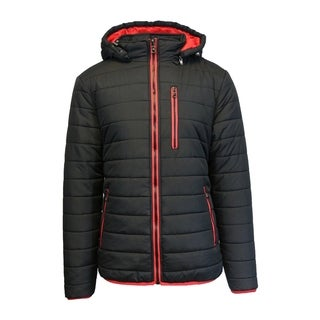 Link to Spire by Galaxy Men's Heavyweight Puffer Jacket with Detachable Hood Similar Items in Men's Outerwear