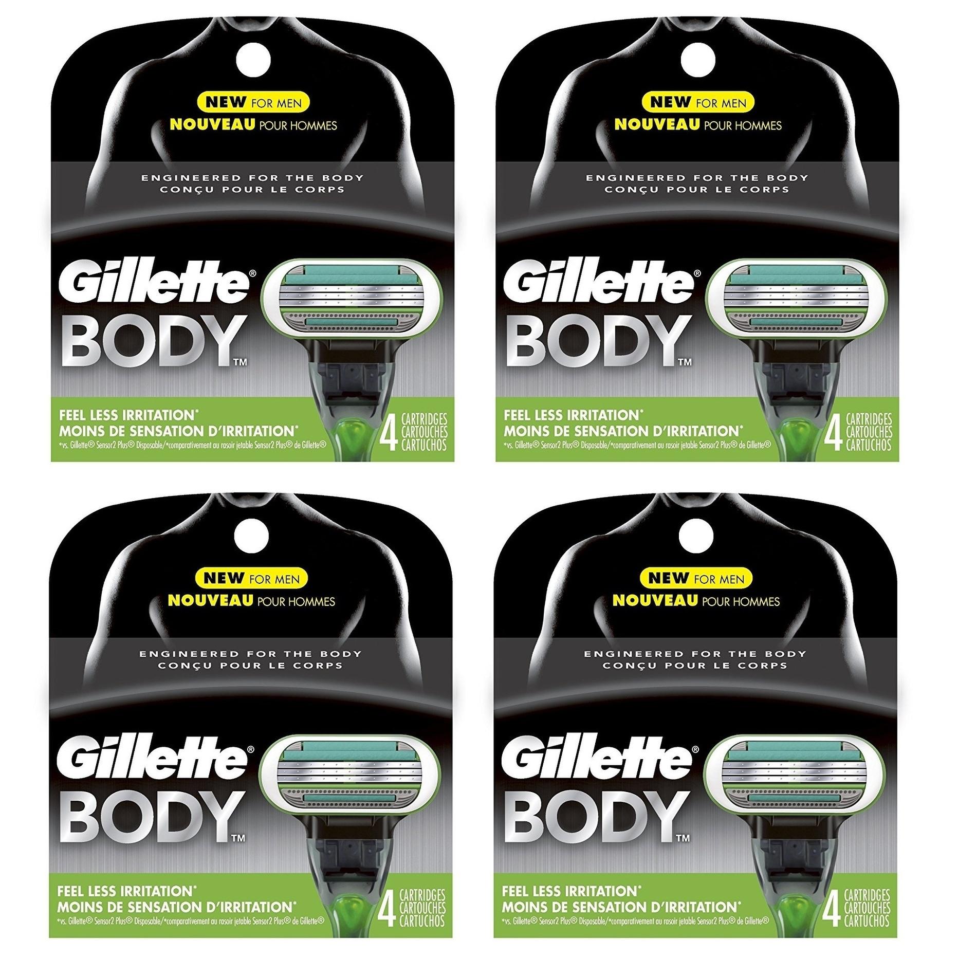 Gillette Body Refill Blade Cartridges (Pack of 4) (4 pack)