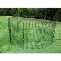 ALEKO Dog Playpen Pet Kennel Pen Exercise Cage Fence 8 Panel
