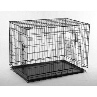 ALEKO 2 Doors Folding Suitcase Pet Cage Kennel With ABS Tray (3 options available)