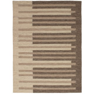eCarpetGallery Flatweave Manhattan Brown Wool Kilim Rug