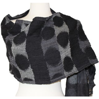 Circle Knit Boiled Wool Scarf