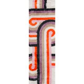 "Novogratz by Momeni Lavender/Multicolored Retro Twist Runner Rug (2'3 x 7'6) - 2'3"" x 7'6"""