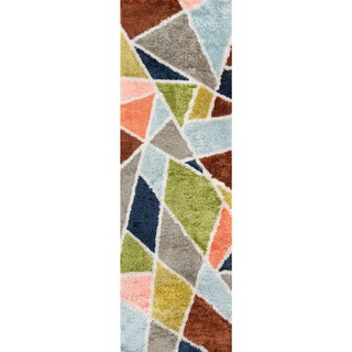 "Novogratz by Momeni Retro Prism Multicolored Runner Rug (2'3 x 7'6) - 2'3"" x 7'6"""