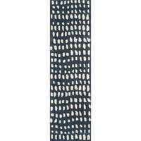 "Novogratz by Momeni Delmar Dots Wool Hand Tufted Runner - 2'3"" x 8'"